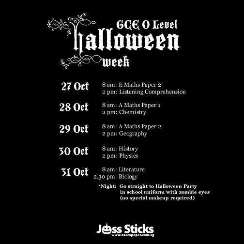 O Level 2014 Halloween Week
