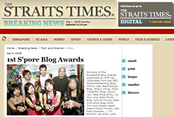 Straits Times Online SG Blog Award Winners