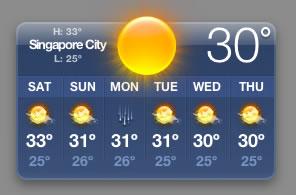 Apple Weather Widget Screenshot