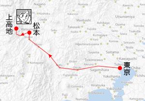 Tokyo-Matsumoto Routemap