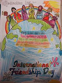 International Friendship Day Artwork