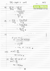 O-Level Oct/Nov 2008 EMaths 4017 Paper II Solutions