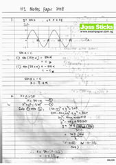 A-Level Oct/Nov 2008 H1 Maths Paper 1 Solutions