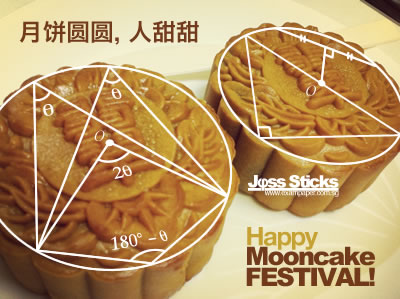 Geometrical Properties of Round Mooncakes