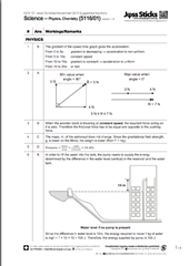 Of The GCE O Level 2013 Combined Science (Physics/Chemistry) 5116 MCQ Paper  1 Suggested Answers & Solutions • Jφss Sticks Secondary Math Tuition Centre