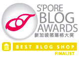 Singapore Blog Awards 2008 Finalist (Best Blog Shop)